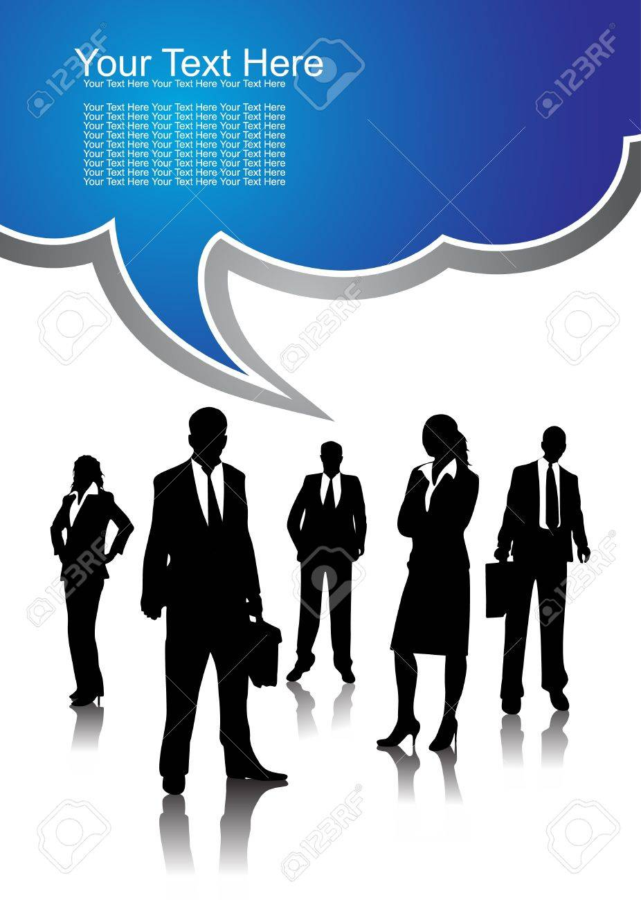 Business peoples, vector illustration Stock Vector - 11374839