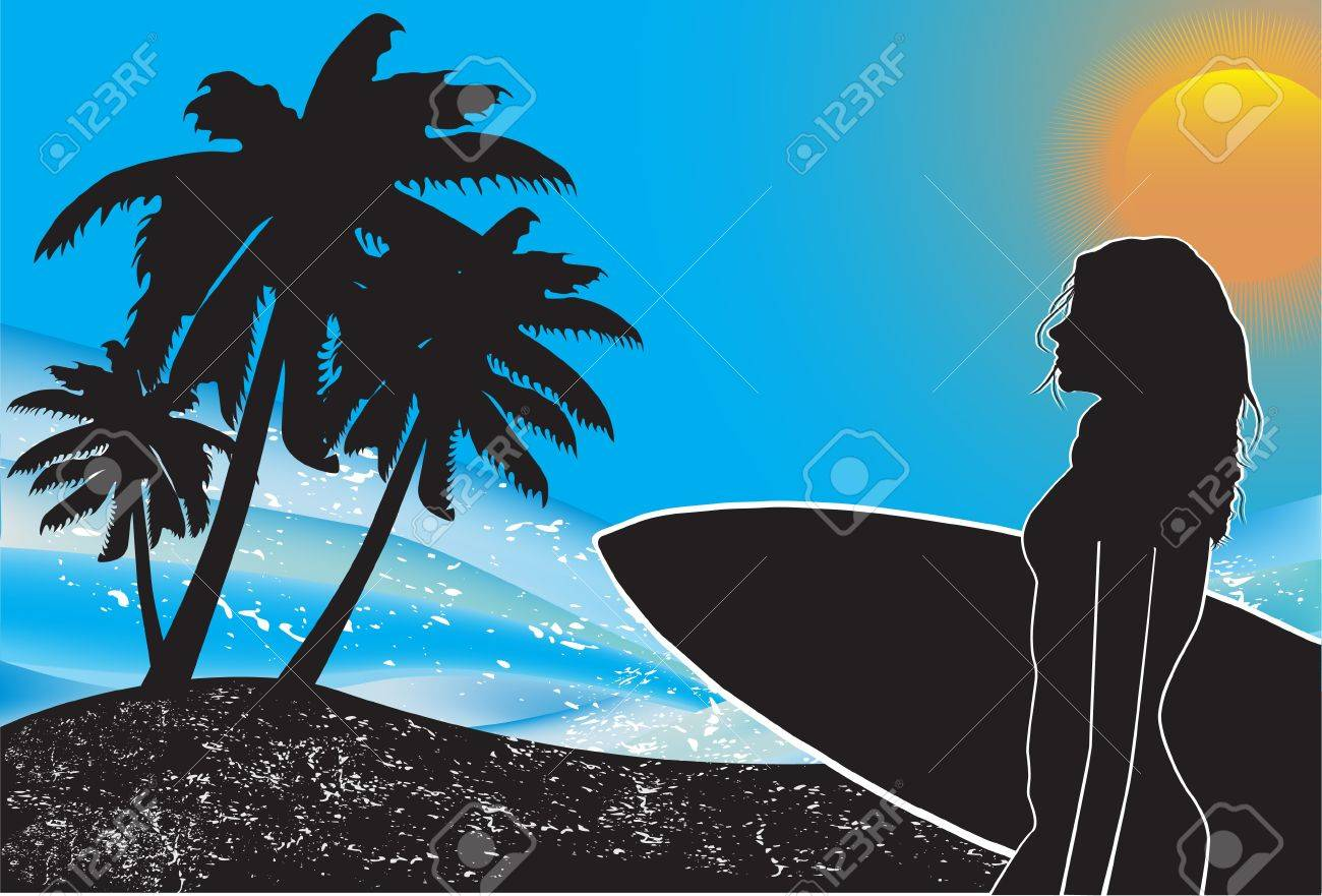 Tropical background Stock Vector - 10891995