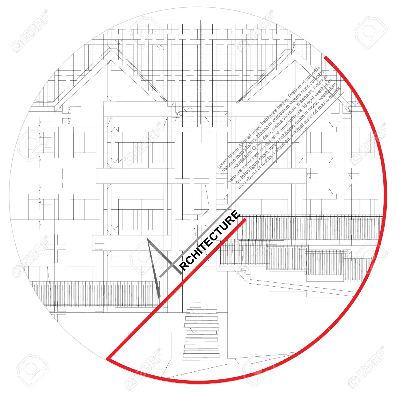 Architectural background  Part of architectural project, architectural plan, technical project, drawing technical letters, architect at work, architecture planning on paper, construction plan Stock Vector - 13914102