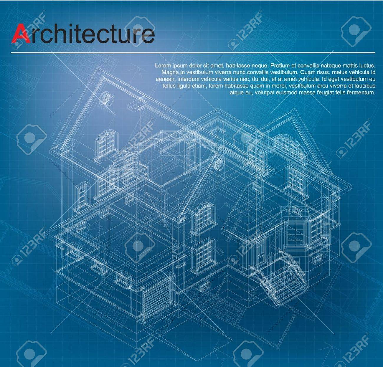 Plain Architecture Design Blueprint Abstract Futuristic