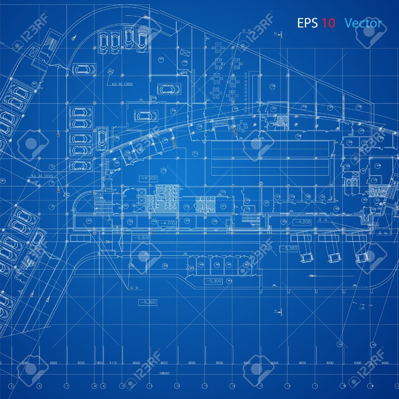 Urban blueprint vector architectural background part of urban blueprint vector architectural background part of architectural project architectural plan technical project malvernweather Images