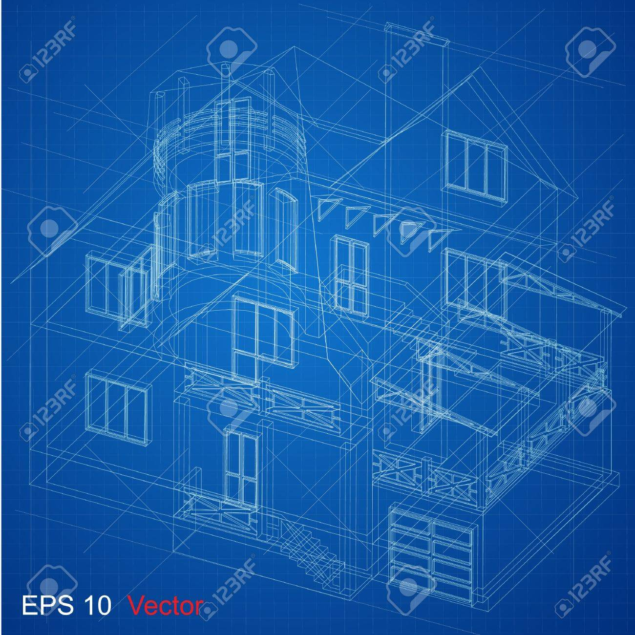 Urban Blueprint  vector   Architectural background  Part of architectural project, architectural plan, technical project, drawing technical letters, design on paper, construction plan Stock Vector - 14404026