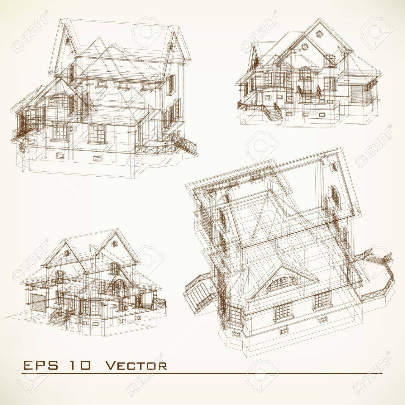 Delighful Architectural Drawing Background Stock Photos H In