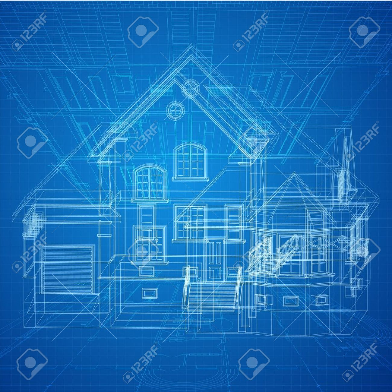 blueprint house images stock pictures royalty free blueprint blueprint house architectural background with a 3d building model