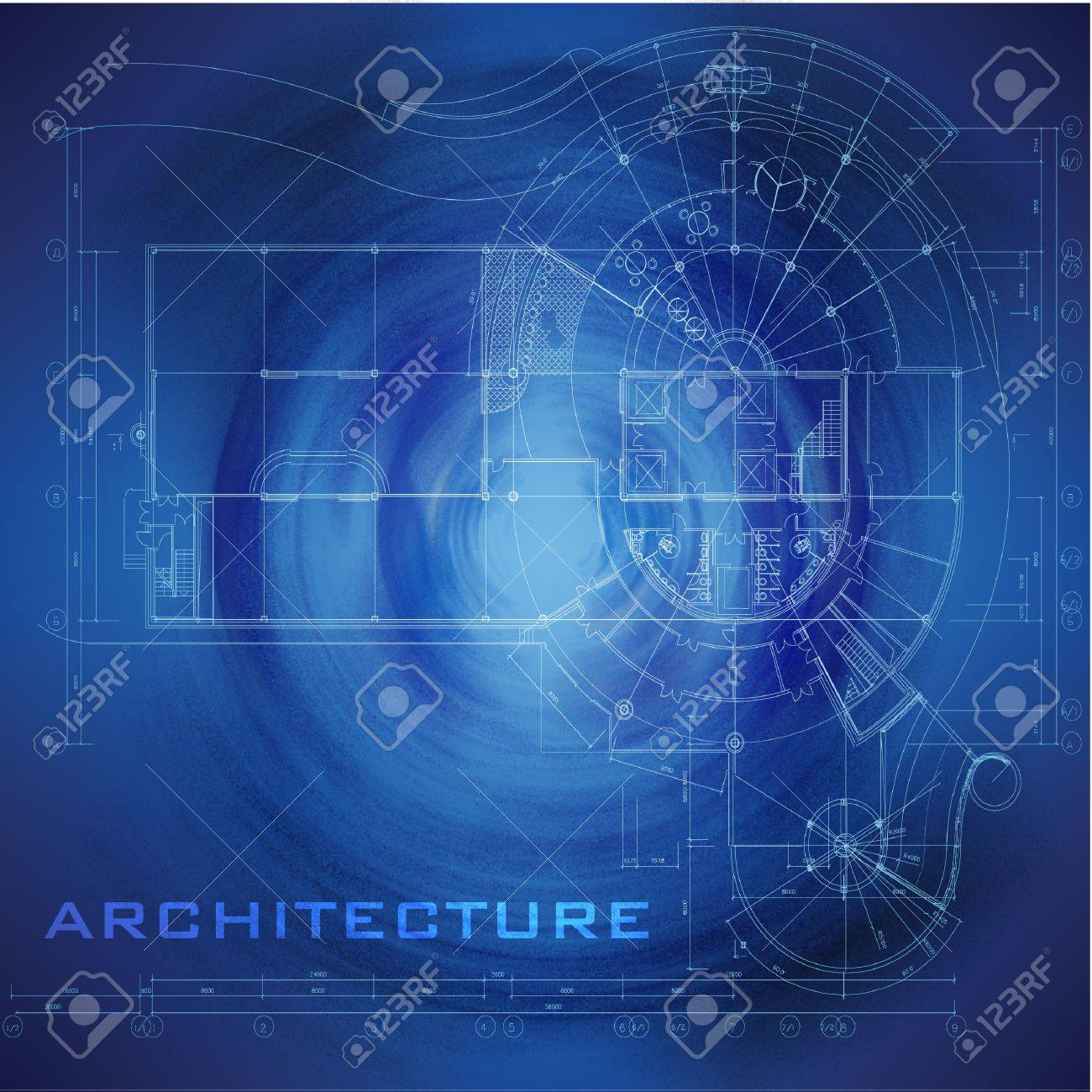 Abstract futuristic architectural design urban blueprint abstract futuristic architectural design urban blueprint architectural background part of architectural project architectural plan malvernweather Images