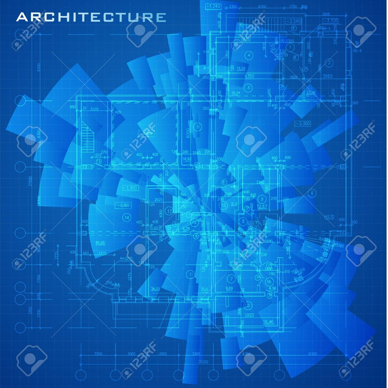 Abstract Futuristic Architectural Design Urban Blueprint
