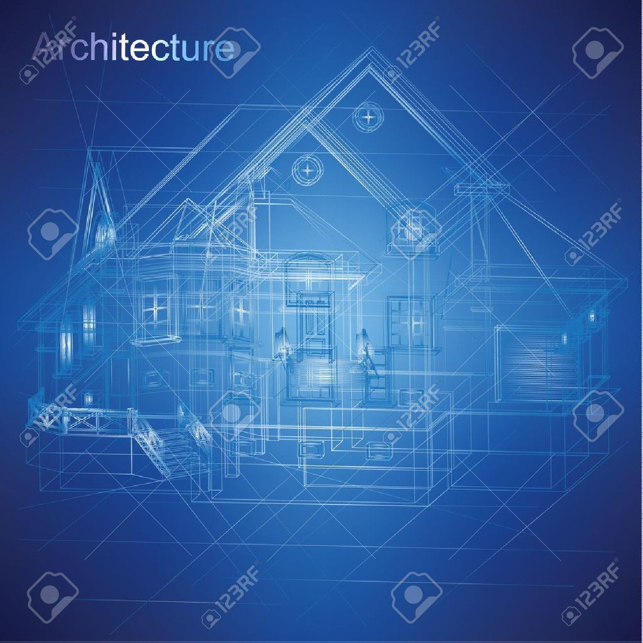 Architectural Drawing Urban Blueprint Vector Architectural Background