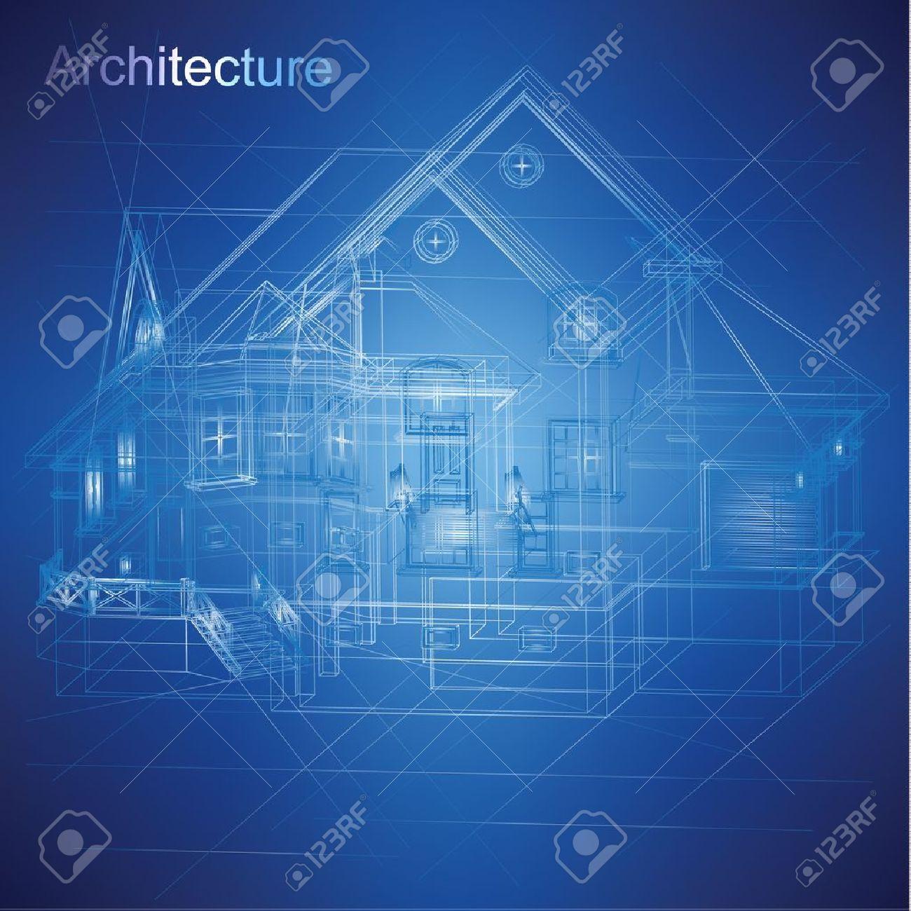 Urban Blueprint  vector -  Architectural background Stock Vector - 19145014