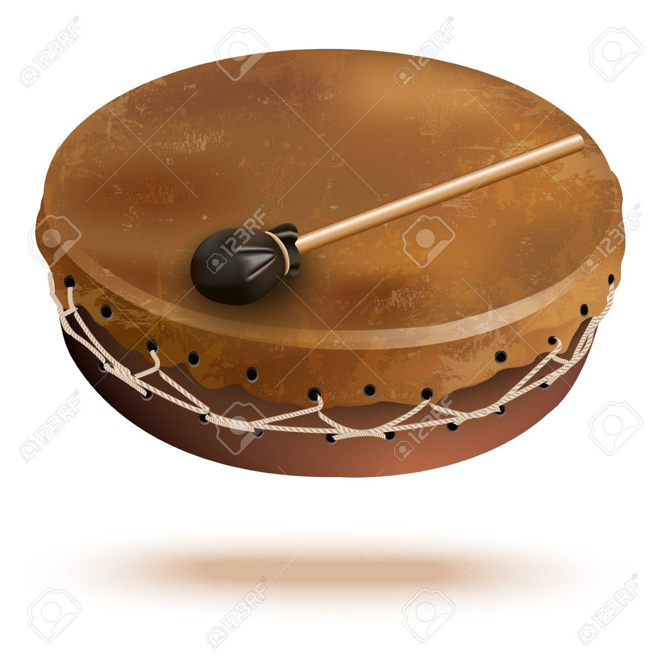 Musical background series - Traditional bungas  drums , isolated on white background Stock Vector - 19127550