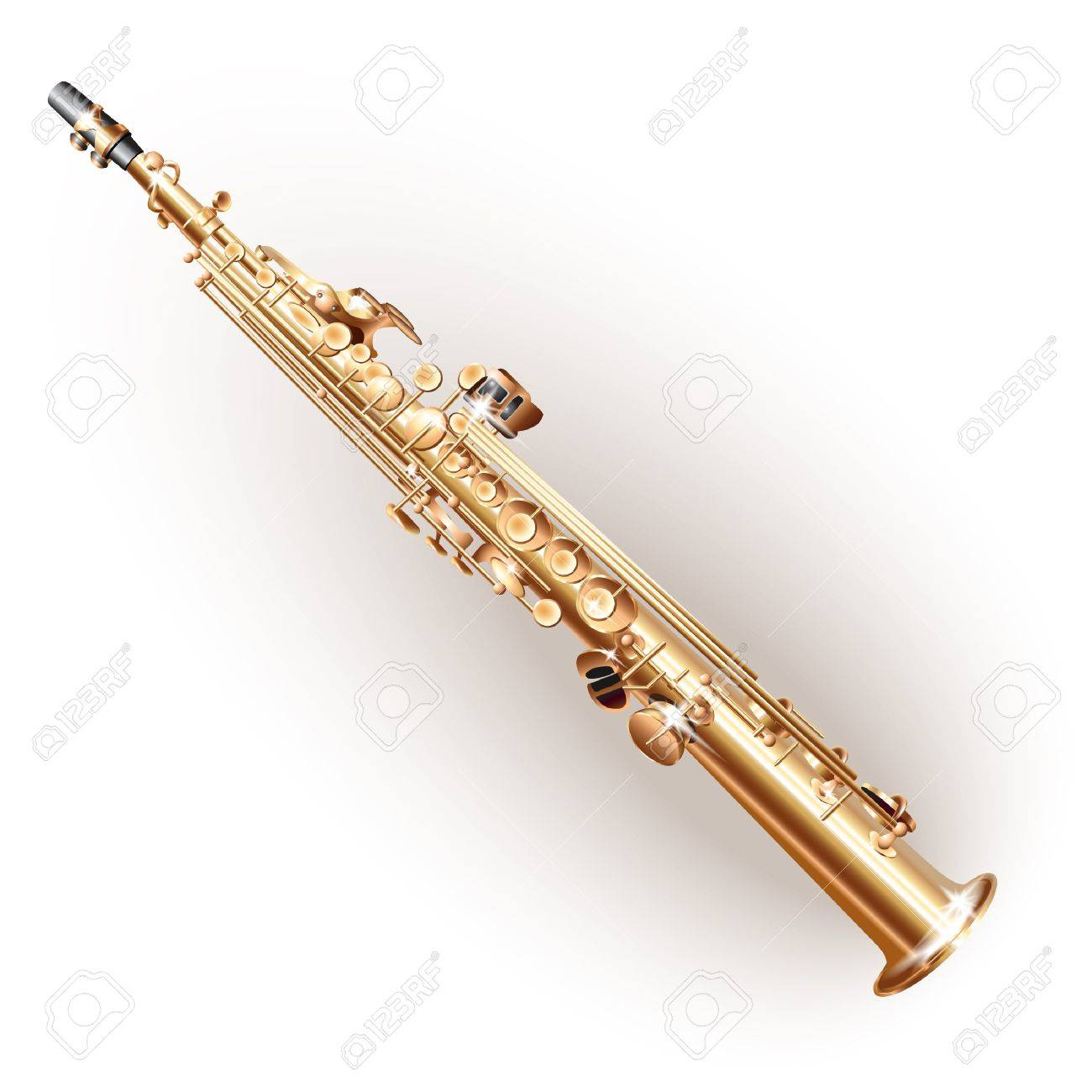 Musical series - Soprano sax, isolated on white background Stock Vector - 19127500