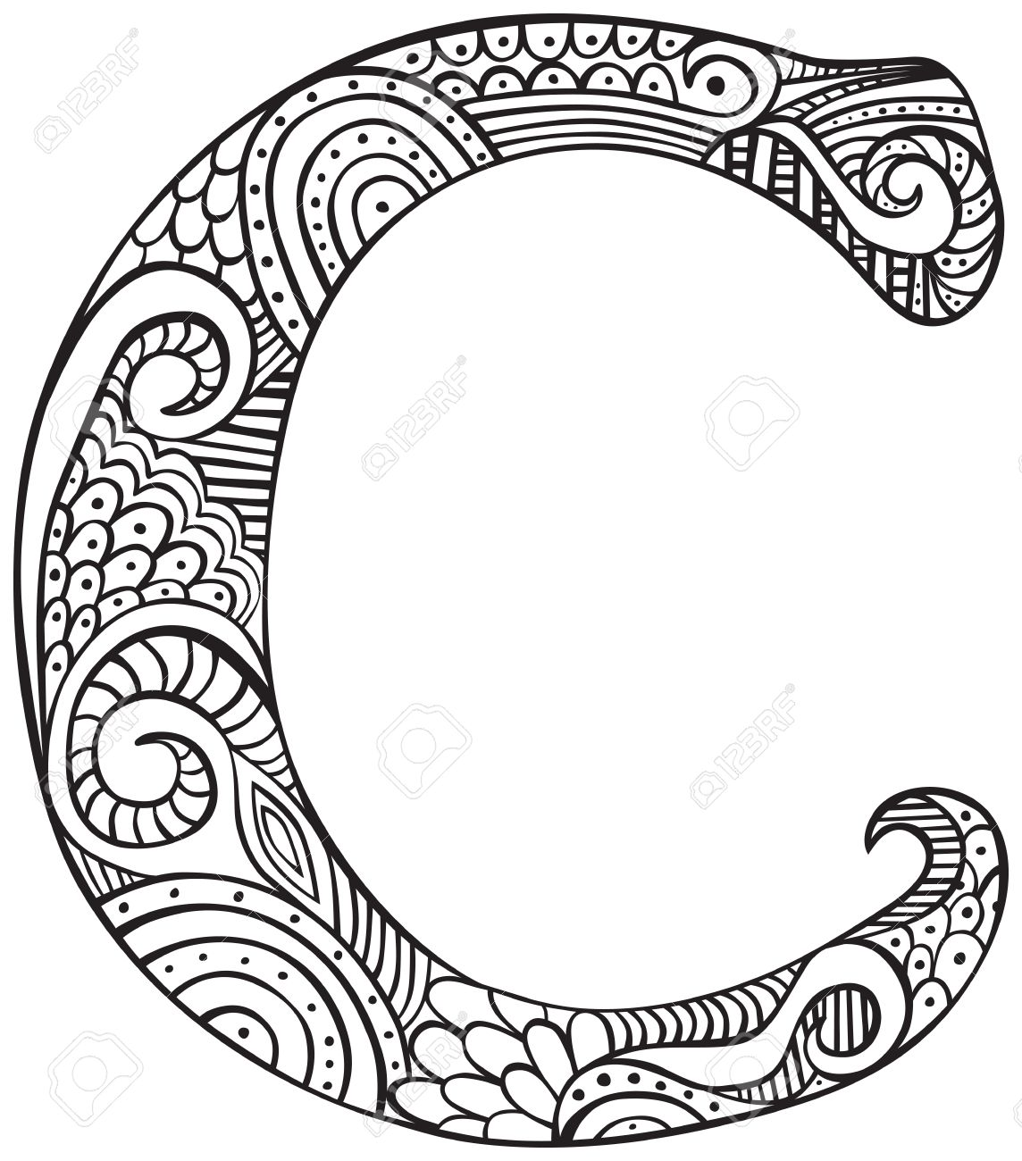 capital letter i coloring page virtren com