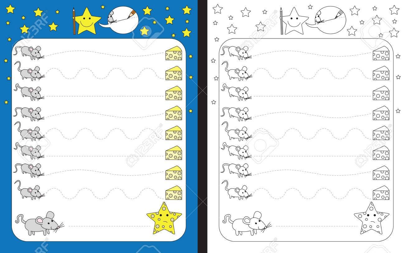 Hoja De Trabajo Preescolar Para Practicar Habilidades Motoras Finas ...