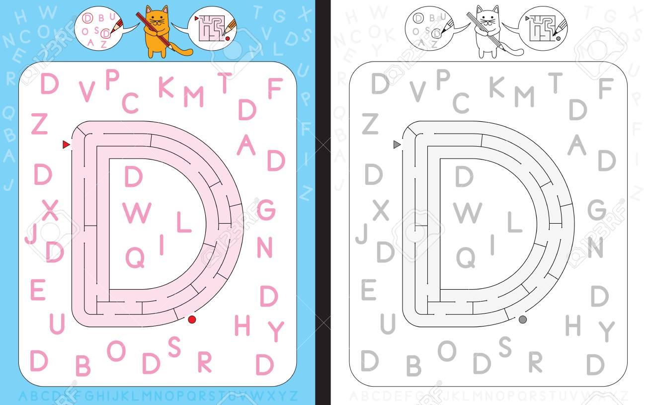 Arbeitsblatt Zum Lernen Des Alphabets - Erkennen Des Großbuchstabens ...