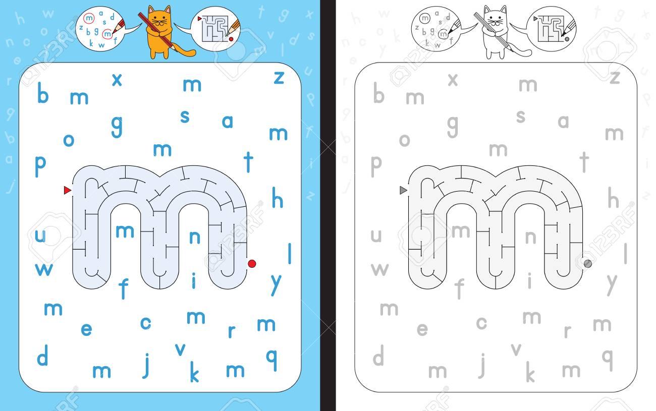 Arbeitsblatt Für Das Lernen Des Alphabets - Erkennender Buchstabe M ...