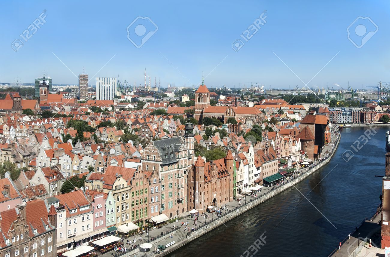Old city Gdansk in Poland with the oldest medieval port crane