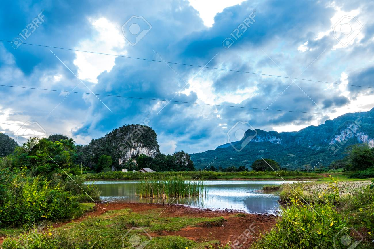 Vi ales valley view in Cuba  Unreal nature wih lakes, mountain,