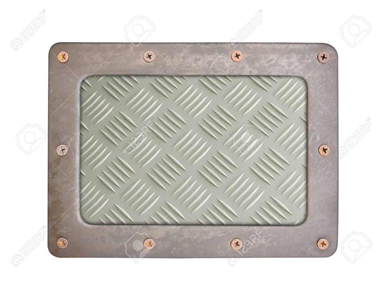 Patrón Estilo Textura Del Metal De La Placa De Fondo De Acero Con ...