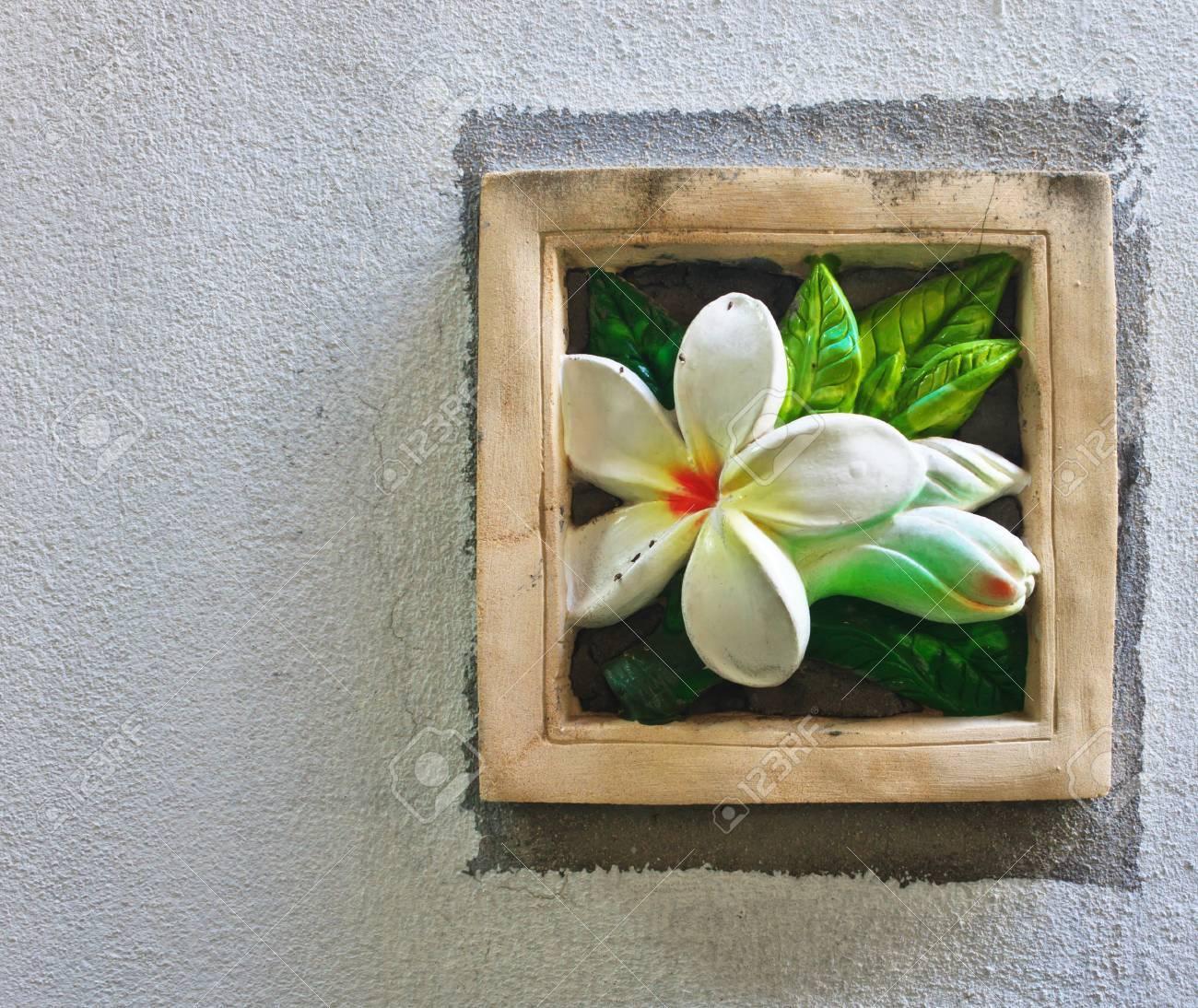 Stone Plumeria Craft Art Design For Spa Stock Photo Picture And