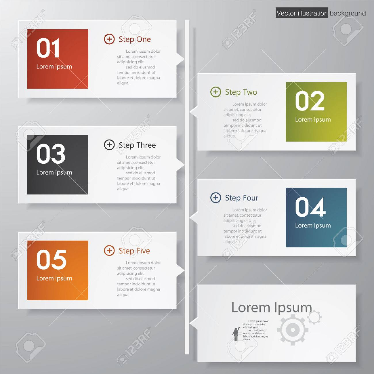 Design Clean Number Banners Template Graphic Or Website Layout - Timeline graphic template