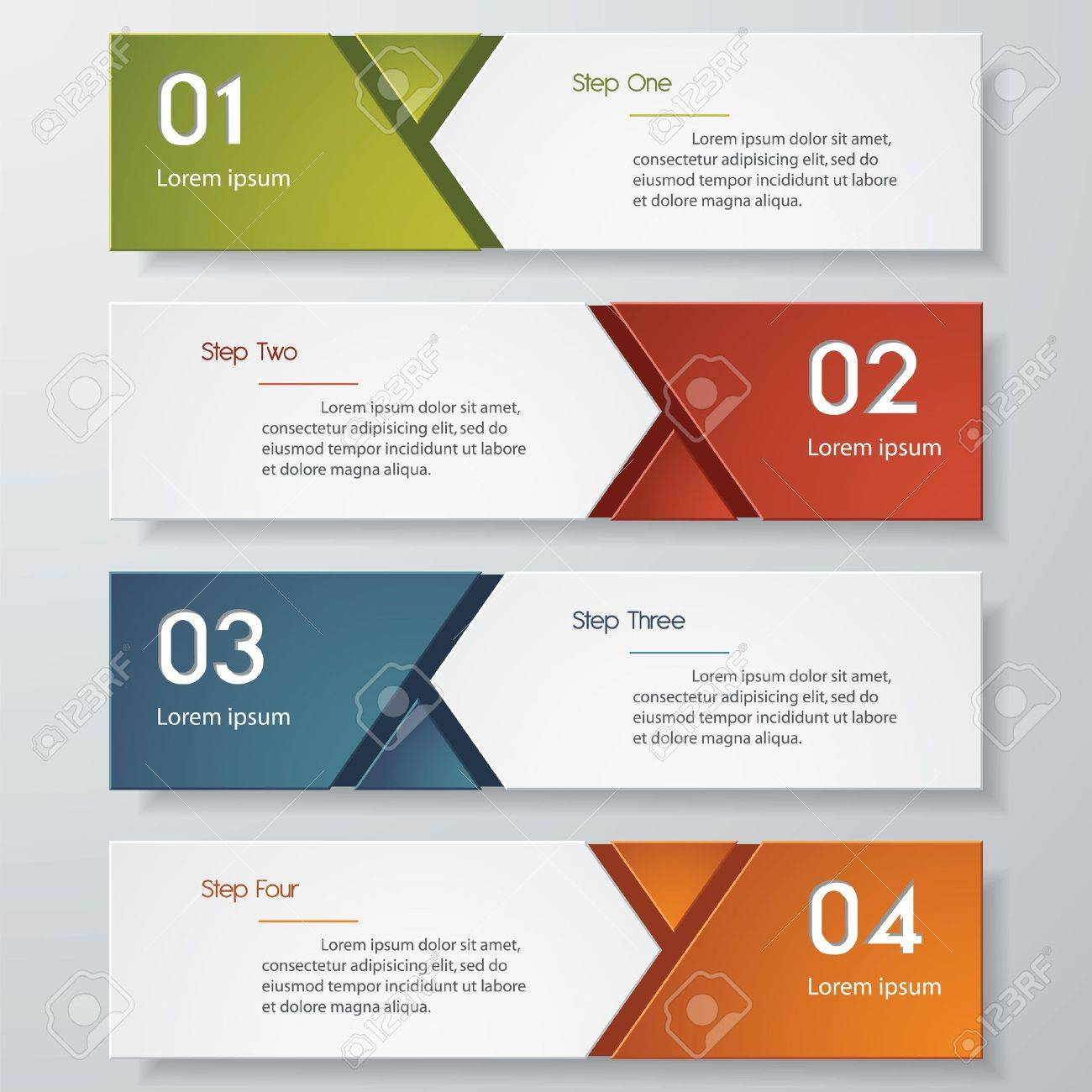 Design Clean Number Banners Template/graphic Or Website Layout ...