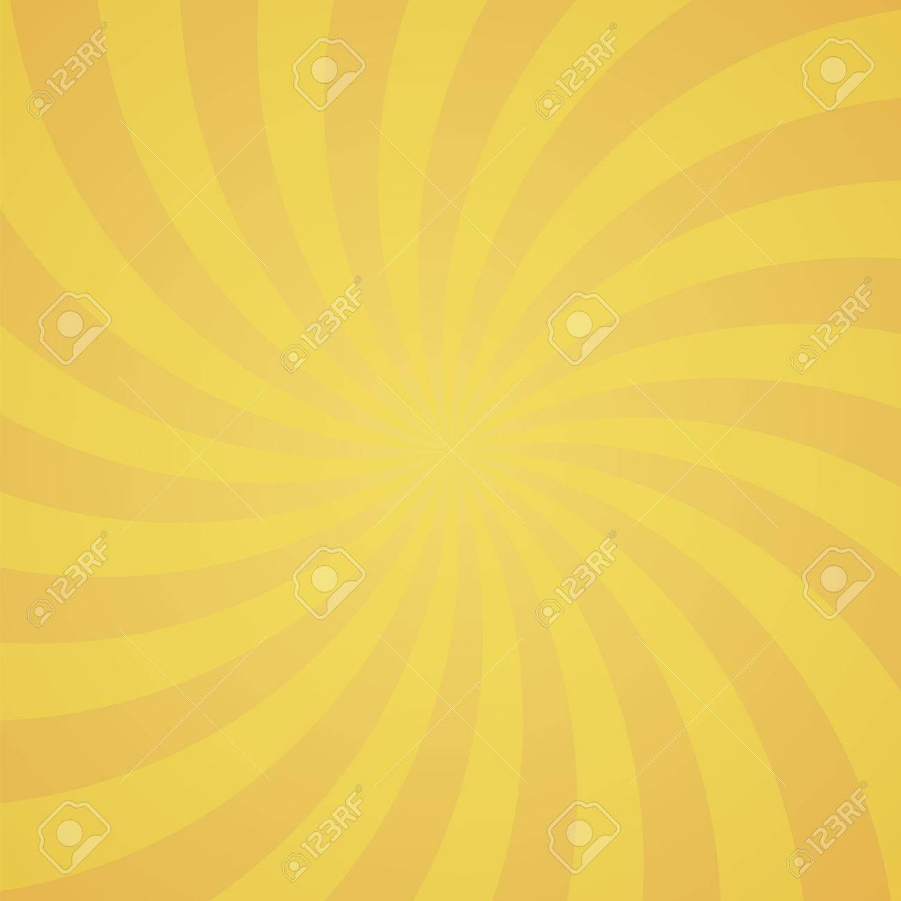 Orange Color Circle Swirl Burst Background Vector Illustration Stock
