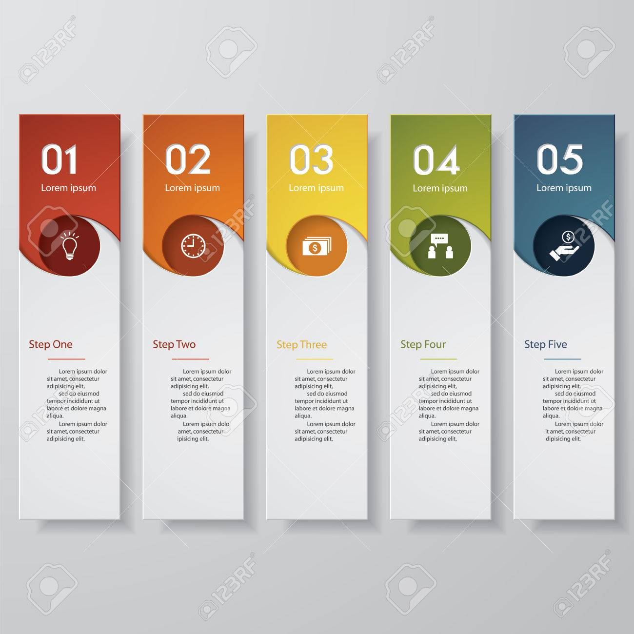 Diseño Limpio Plantilla Número Banners / Gráfico O Diseño Web ...
