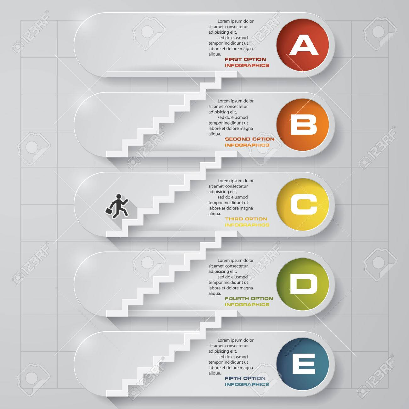 Abstract business chart 5 steps from lower to upper steps diagram abstract business chart 5 steps from lower to upper steps diagram templategraphic or website ccuart Choice Image
