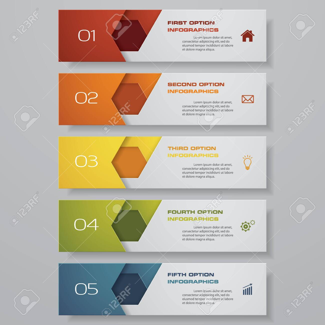 Design clean number banners template. Vector. - 133673400