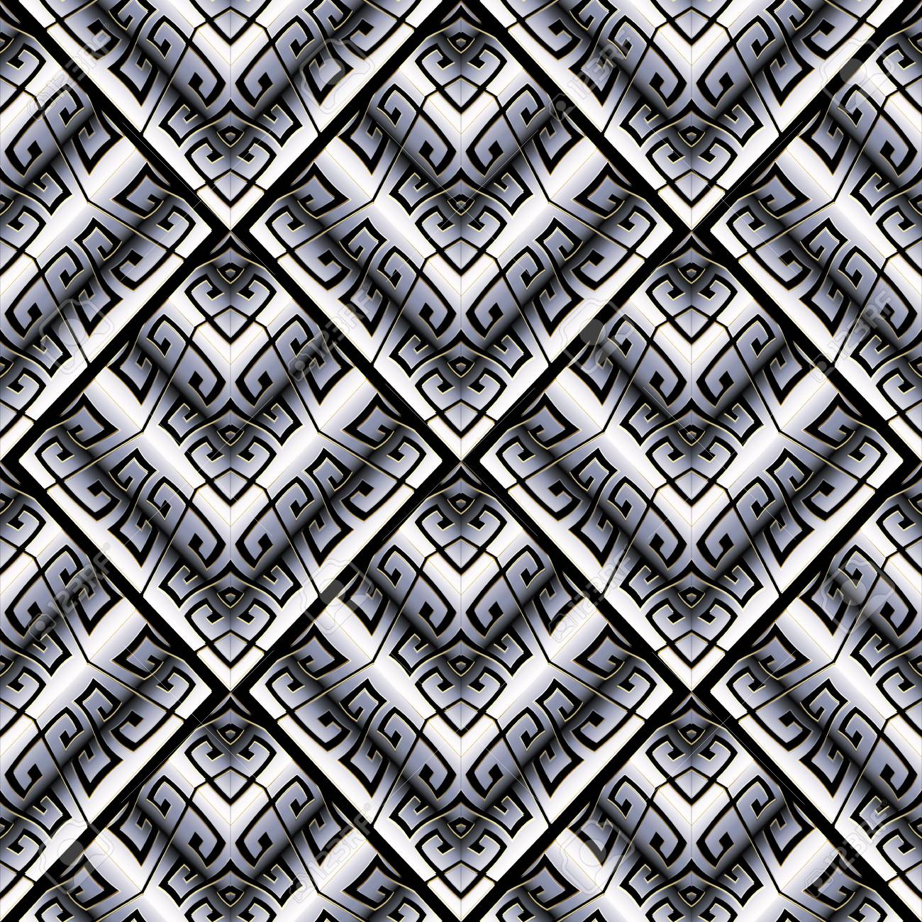 Greek Key 10x15 FT Photo Backdrops,Tile Mosaic Pattern in Blue and White with Antique Meander and Camo Effect Background for Photography Kids Adult Photo Booth Video Shoot Vinyl Studio Props