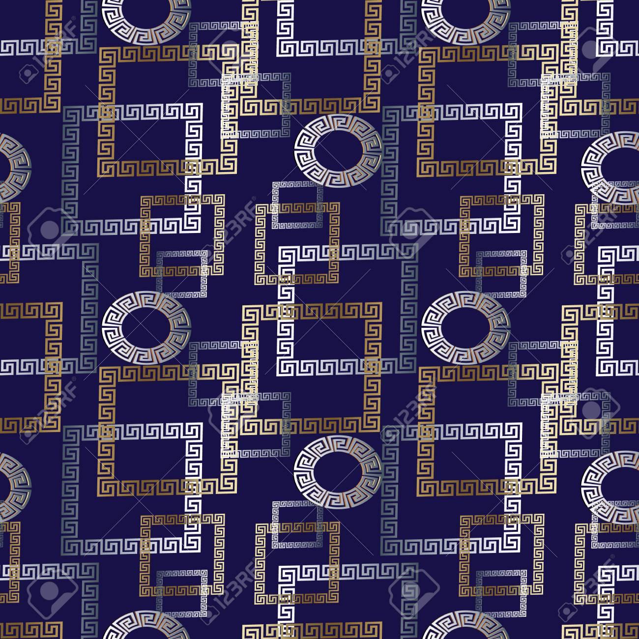 Check Tiled Geometric Modern Seamless Pattern Dark Blue Vector