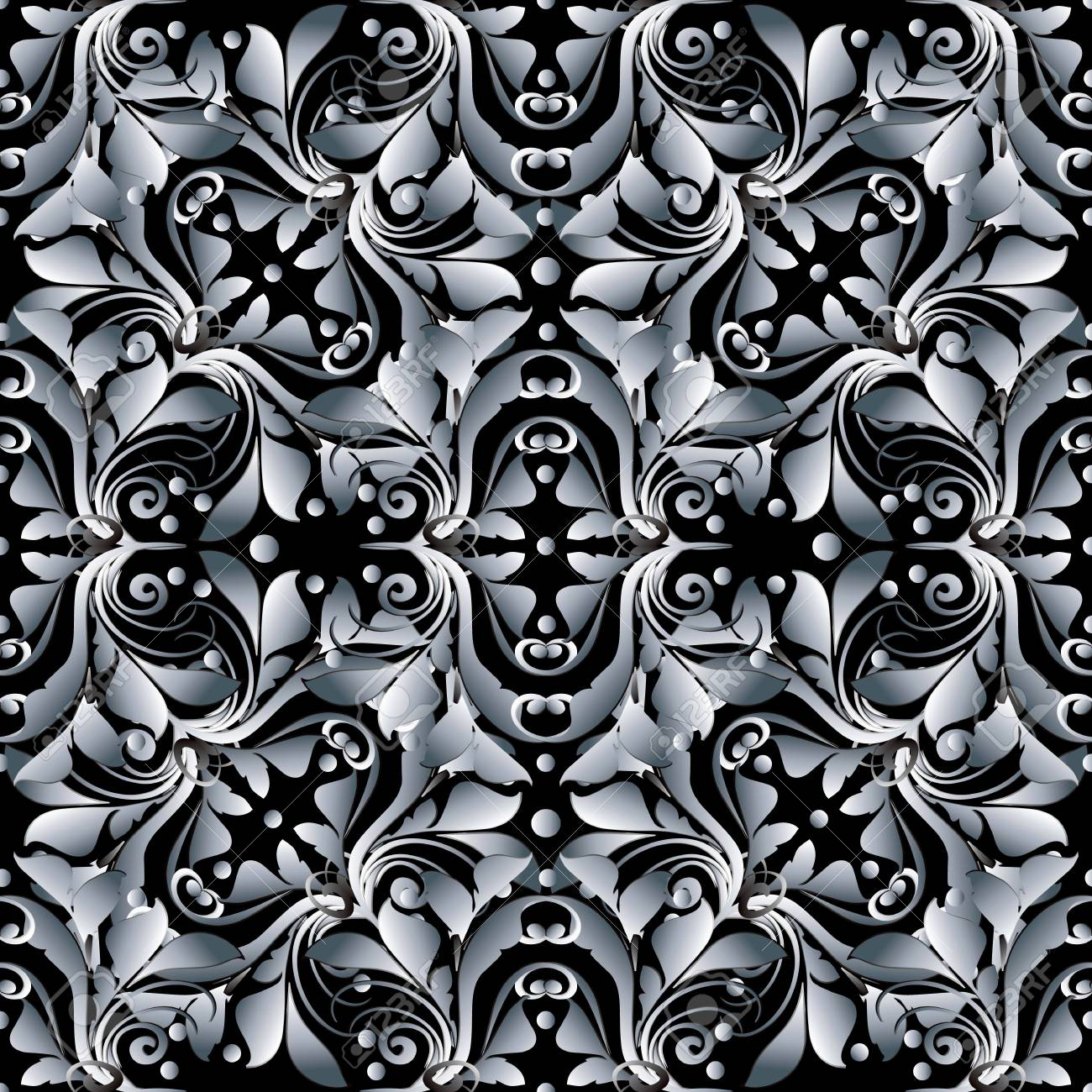 WoowPaper Background 3d Black And White Wallpaper