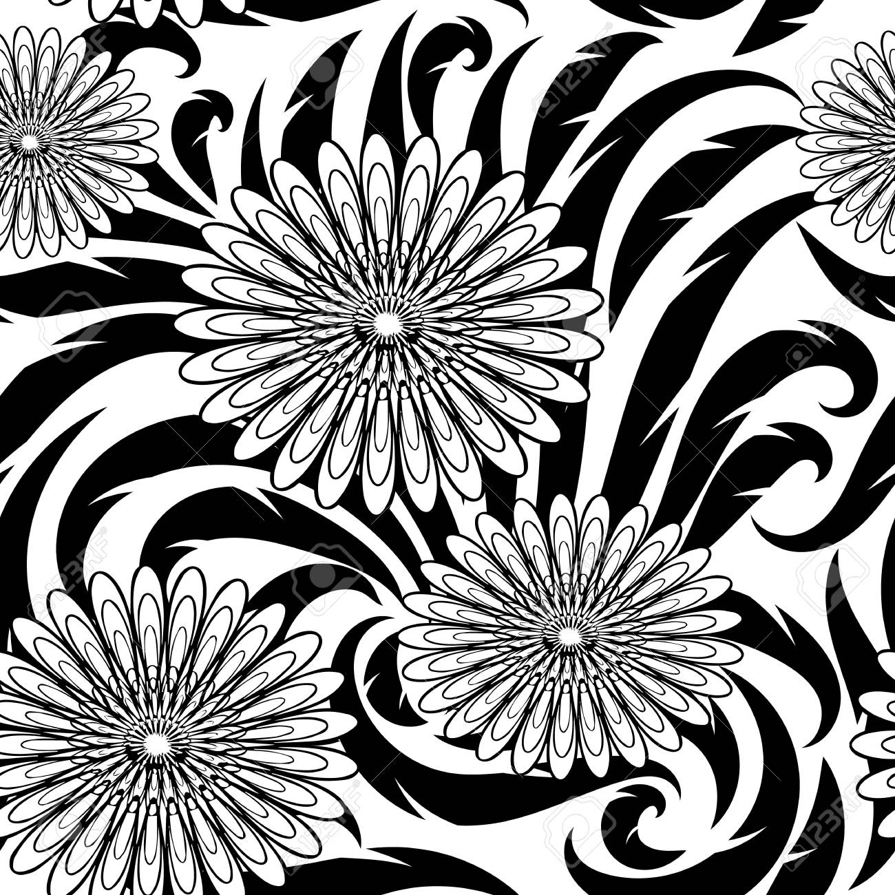Flowers vector seamless pattern black and white floral beautiful flowers vector seamless pattern black and white floral beautiful background wallpaper with abstract flowers mightylinksfo