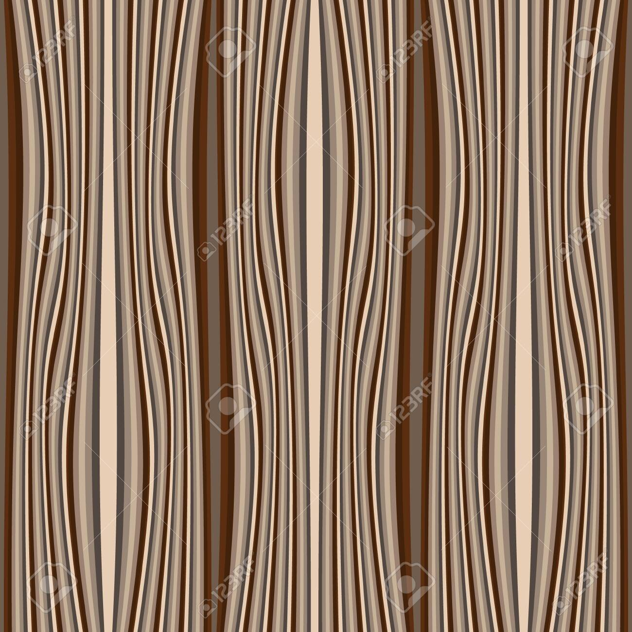 Timber textured vector seamless pattern. Wave lines wooden background. Repeat striped backdrop. Decorative patterned design. Ornate modern ornament. Vertical stripes, waves. Material. Endless texture - 148268813