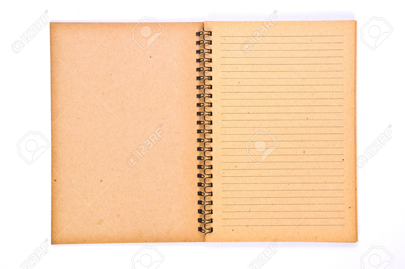 Open Blank page of Recycle Paper Notebook Stock Photo - 7904923