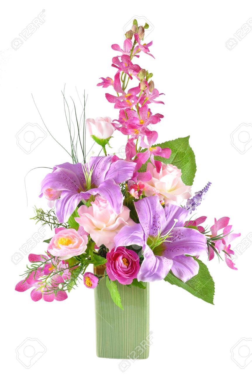 Colorful artificial flower arrangement on white background stock colorful artificial flower arrangement on white background stock photo 11286332 mightylinksfo