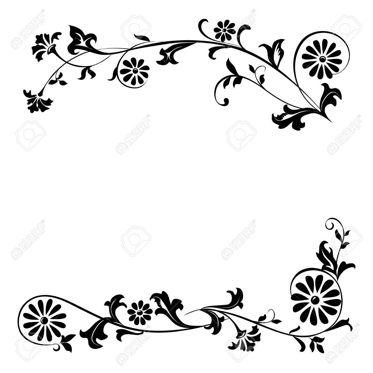 Elementos Del Vector Para El Diseo De Flores Y Adornos Florales
