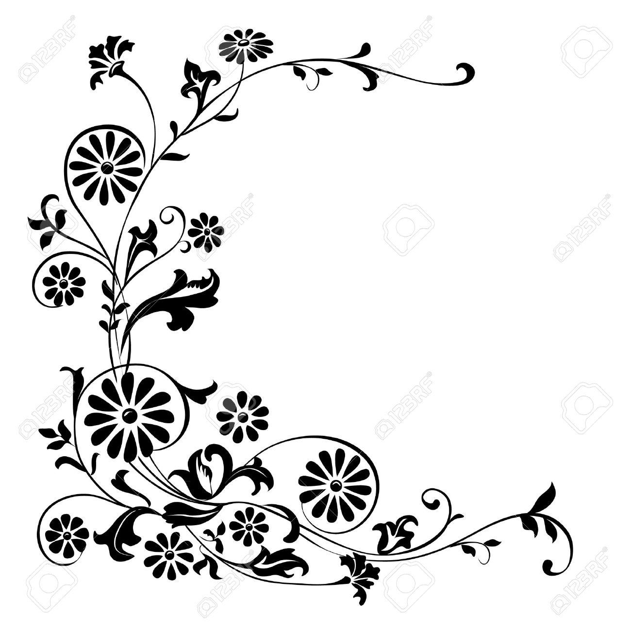 Elementos Del Vector De Flores De Diseo Y Adornos Florales