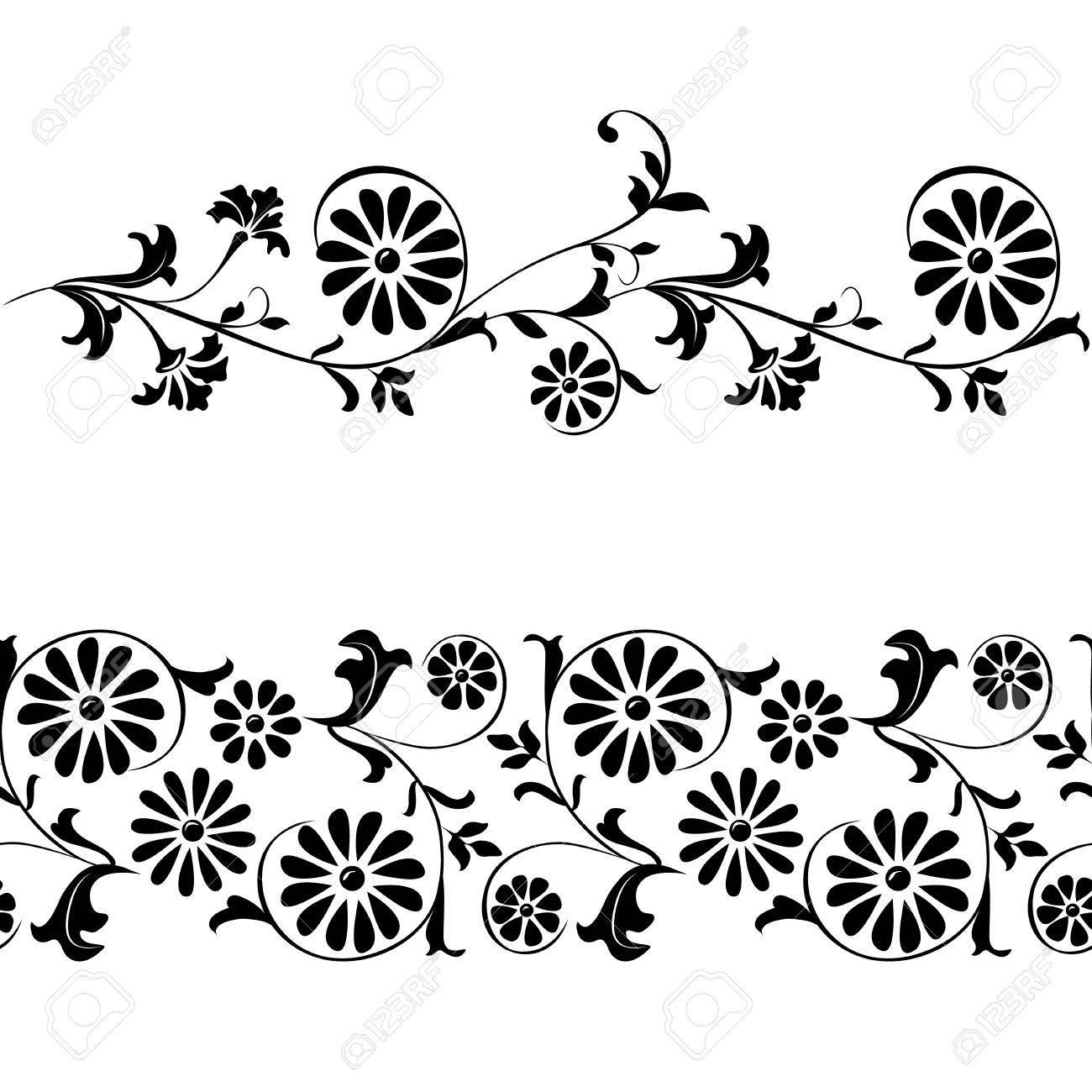 Seamless Vector Elementos Para El Diseo Flores Y Adornos Florales