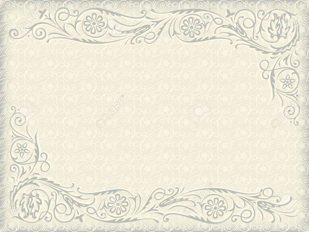 Ornamental floral wedding background frame with swirling ornamental floral wedding background frame with swirling decorative elements stock vector 15646178 junglespirit Image collections