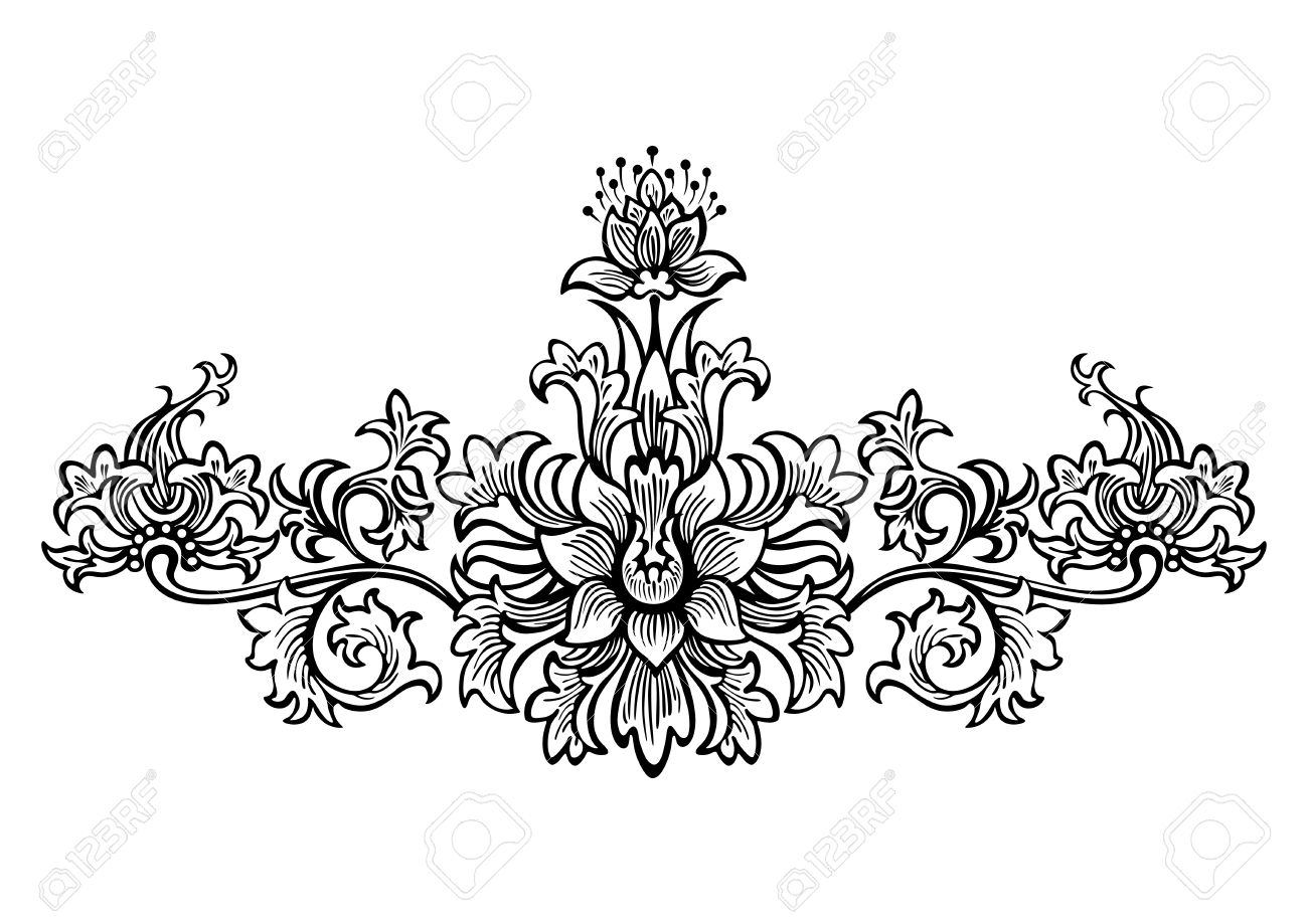 swirling elements for design flowers and ornaments floral royalty