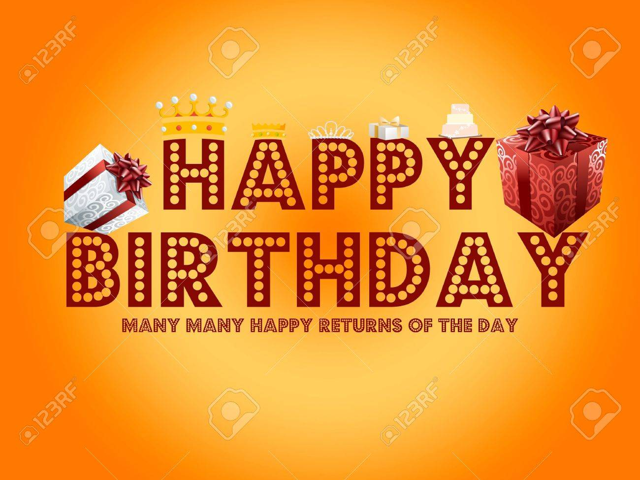 Happy Birthday Card Stock Photo - 8631082