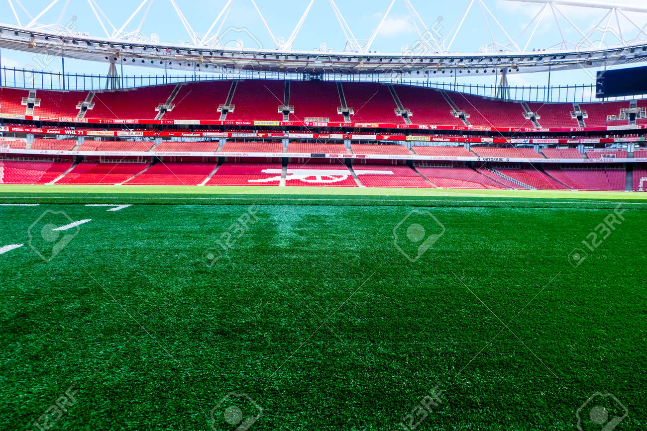 A picture of Emirates Stadium during tour in the afternoon before Covid-19. Emirates Stadium is home of Arsenal Football Club. - 167820937