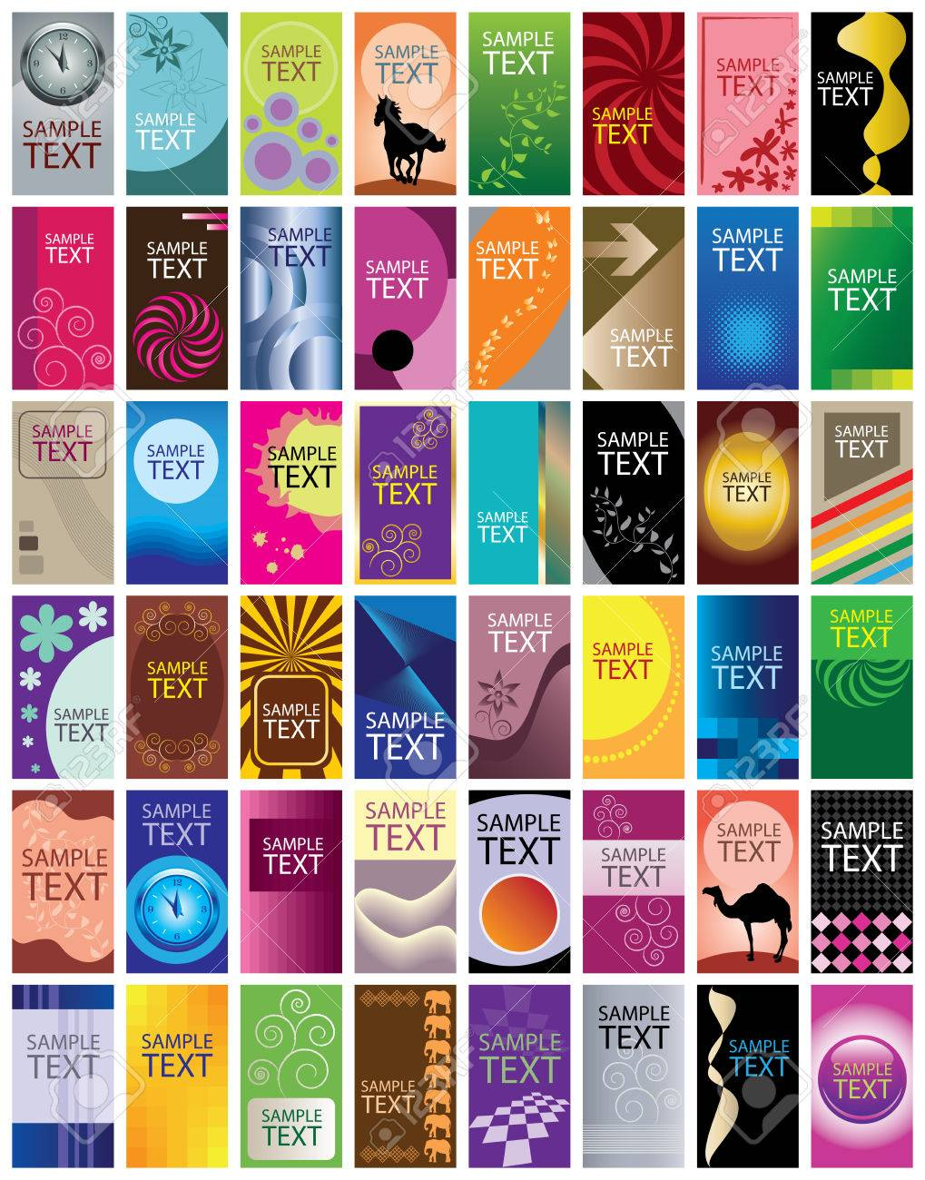 Business cards set Stock Vector - 7048298