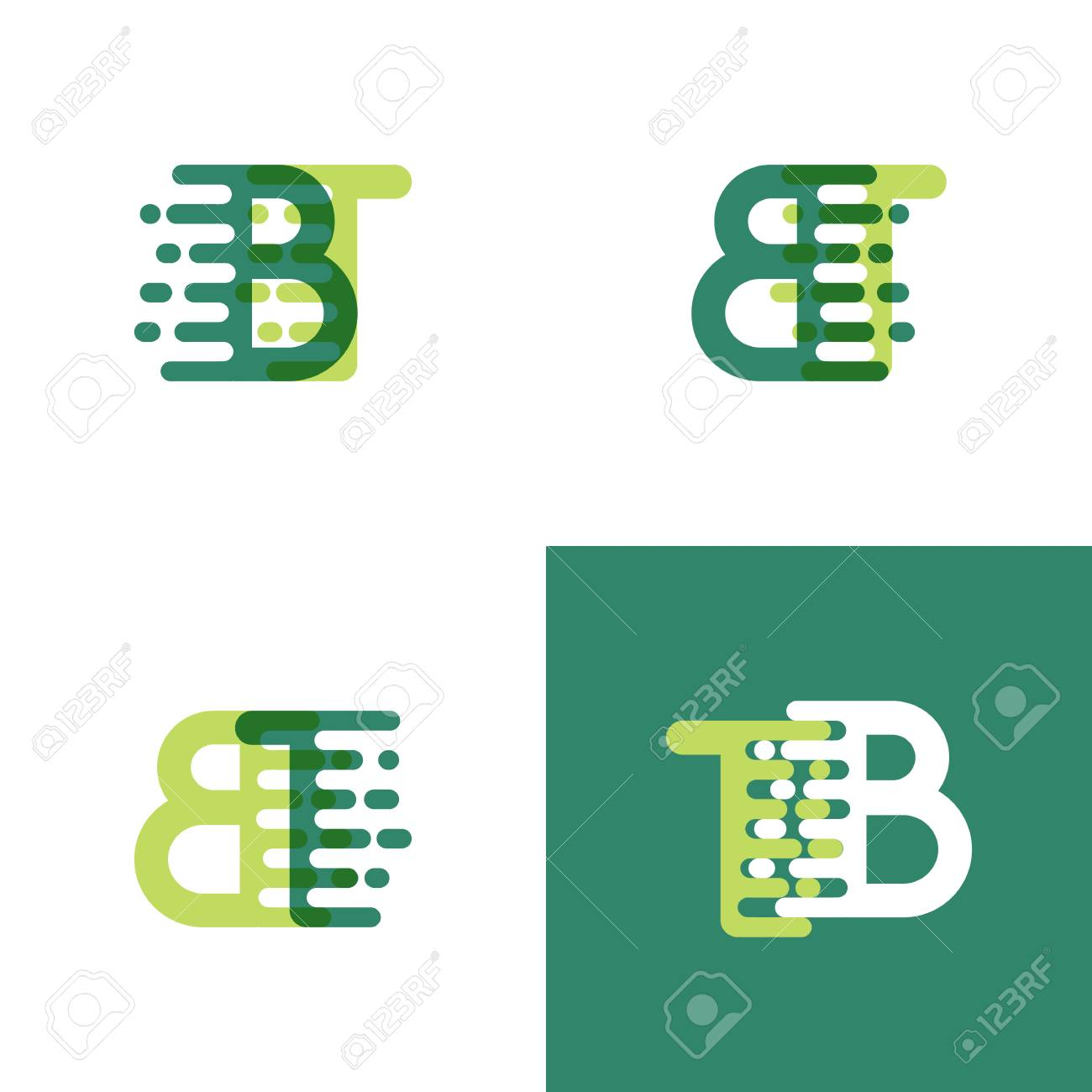 Bt Letters Logo With Accent Speed In Light Green And Dark Green Royalty Free Cliparts Vectors And Stock Illustration Image 99020431