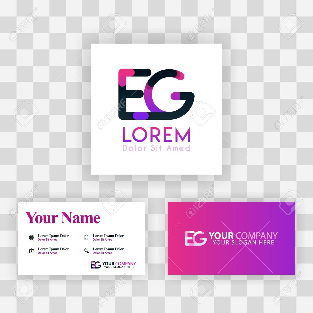 Vector Purple Modern Creative Clean Business Card Template Concept