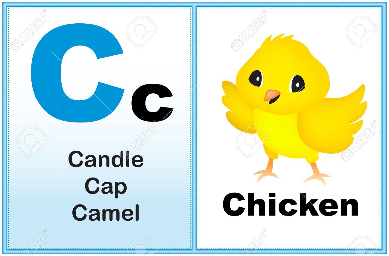 Alphabet Buchstaben C Mit Klippkunst Und Einige ähnliche Wörter ...