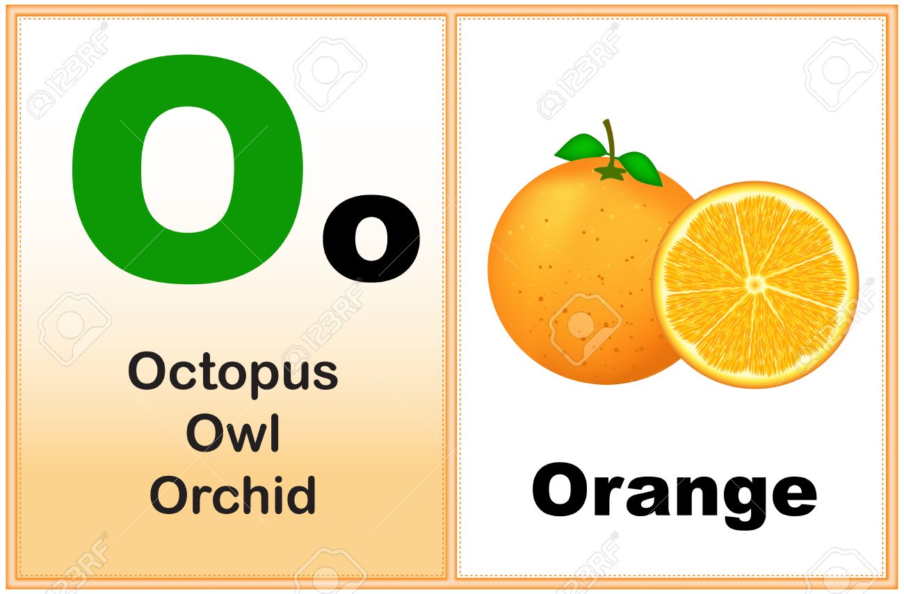 Alphabet Letter O With Clip art And Few Similar Words Starting