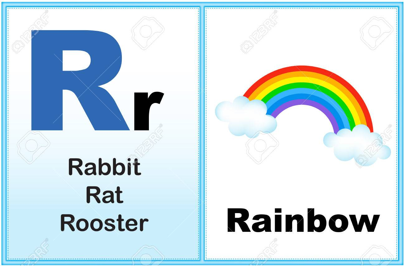 Alphabet Letter R With Clip Art And Few Similar Words Starting