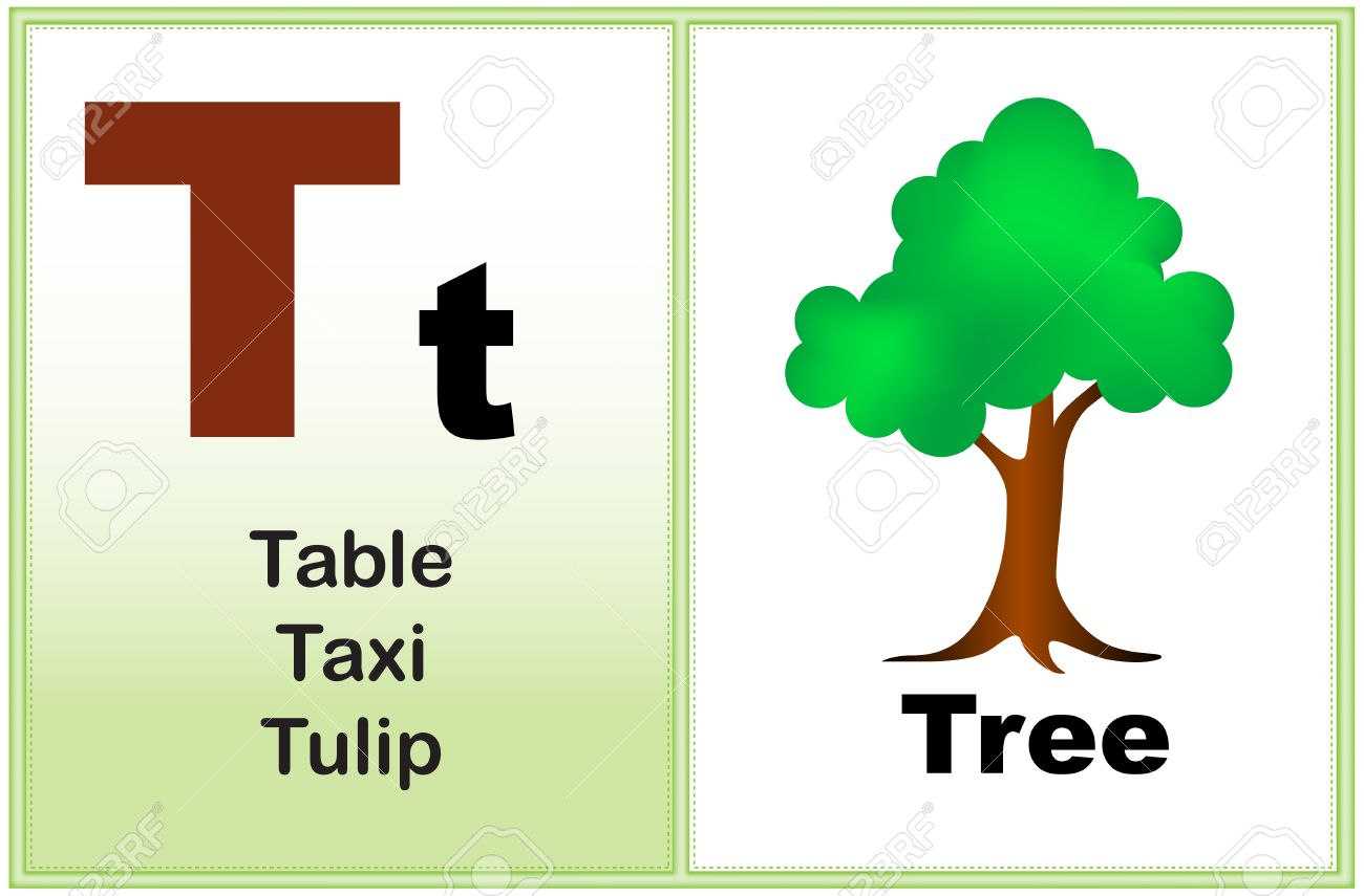 Alphabet Letter T With ClipArt And Few Similar Words Starting
