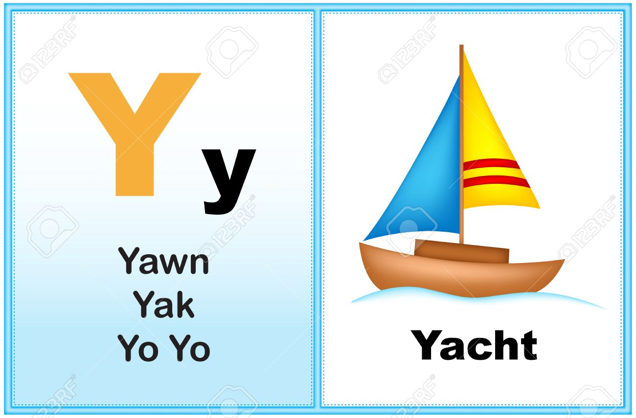 Alphabet Letter Y With Clip-art And Few Similar Words Starting ...